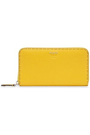 Fendi Stitch-detail zip-around wallet