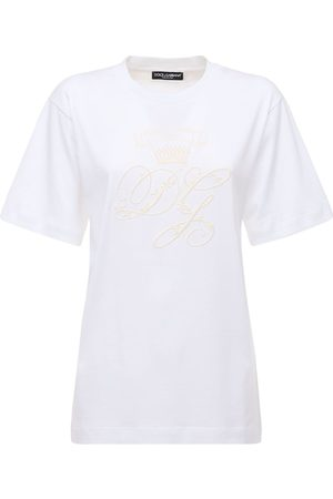 Dolce & Gabbana Oversize Embroidered Logo Jersey T-shirt