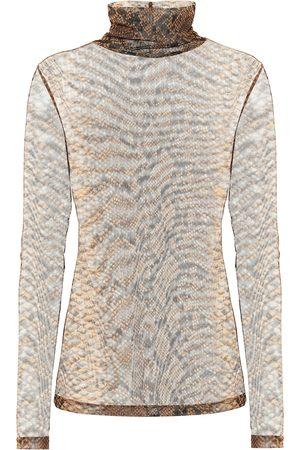 DRIES VAN NOTEN Women Tops - Snake-print stretch-jersey top