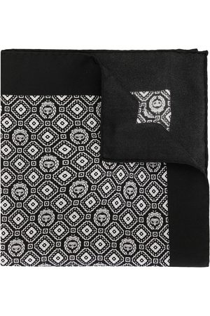 Dolce & Gabbana Men Handkerchiefs - Geometric print silk pocket square