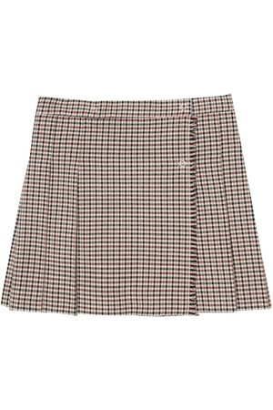 Il gufo Pleated checked skirt