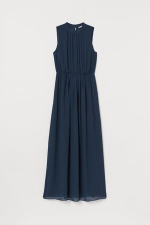 H&M Women Sleeveless Dresses - Long chiffon dress - Turquoise