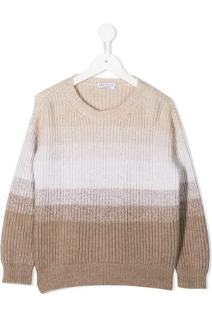 Brunello Cucinelli Colour-block cashmere jumper