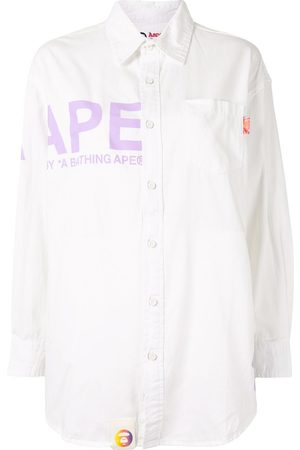 AAPE BY A BATHING APE Logo-print button-up workshirt