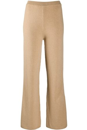 Joseph High-waisted flared knitted trousers