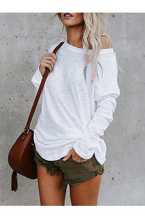 YOINS Casual Round Neck Long Sleeves Tee
