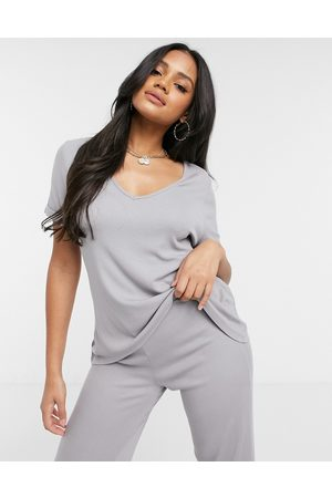 Missguided T-shirt and flared trouser set in