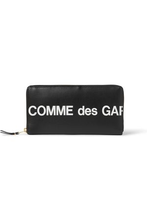 Comme des Garçons Logo-Print Leather Zip-Around Wallet