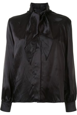 Vetements Pussy-bow satin shirt