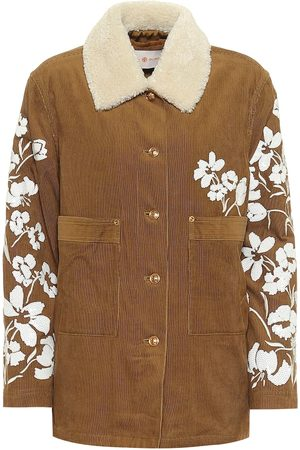 Tory Burch Women Jackets - Sequined cotton corduroy jacket
