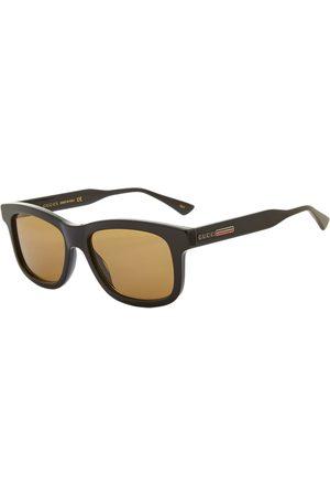 Gucci Gucci Rectangular Frame Acetate Sunglasses