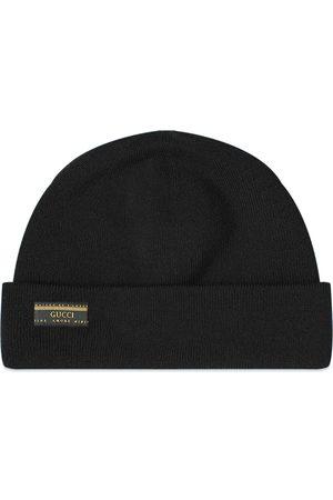 Gucci Men Beanies - Patch Logo Beanie Hat