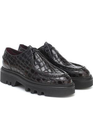 DRIES VAN NOTEN Croc-effect leather Derby shoes