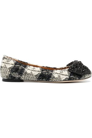 Tory Burch Crystal bow ballet pumps