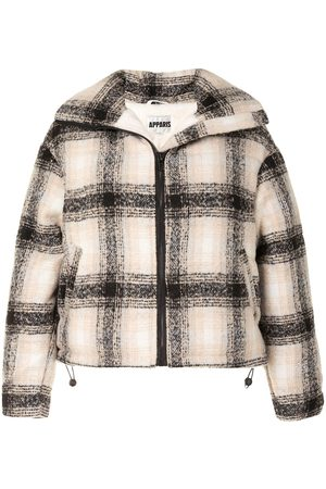 Apparis Marianny plaid oversized coat