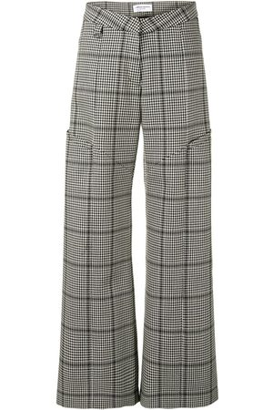 Marine Serre Houndstooth wide-leg trousers