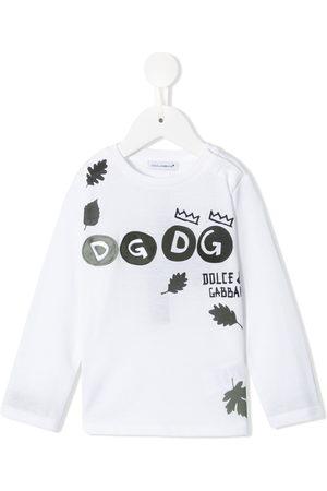 Dolce & Gabbana Long Sleeve - Logo-print T-shirt