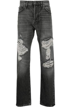 VALENTINO Ripped straight-leg jeans
