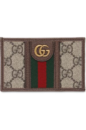 Gucci Men Wallets - Ophidia Gg Canvas & Leather Card Holder