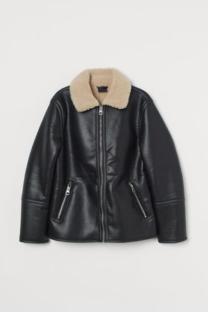 H&M Faux shearling-lined jacket