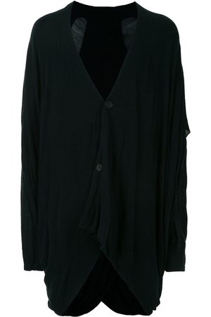 JULIUS Asymmetric hem wool cardigan