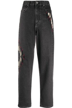 Isabel Marant Embroidered tapered jeans