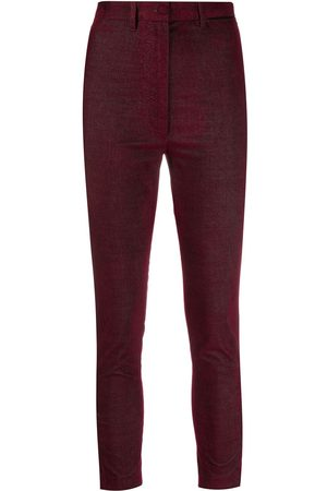 ANN DEMEULEMEESTER Cropped stretch-fit trousers