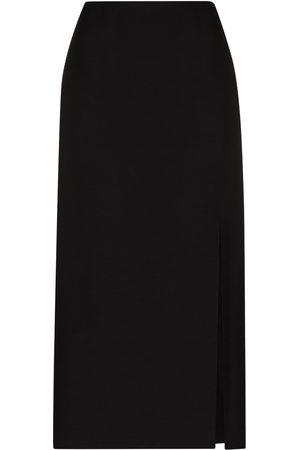 VALENTINO Front-slit midi skirt