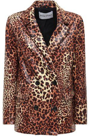 Stand Studio Women Blazers - Cassidy Coated Faux Leather Blazer
