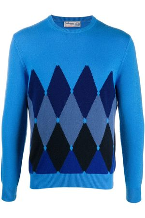 BALLANTYNE Diamond-print cashmere jumper