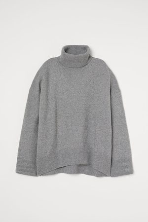 H&M Women Jumpers - Polo-neck jumper - Grey