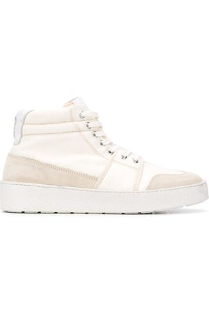 Ami High top leather-trimmed sneakers