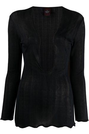Jean Paul Gaultier 2000s semi-sheer blouse