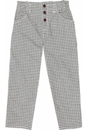 Caramel Vulture checked stretch-cotton pants