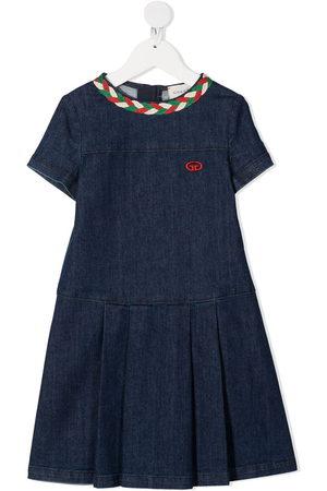 Gucci Web-detail denim dress