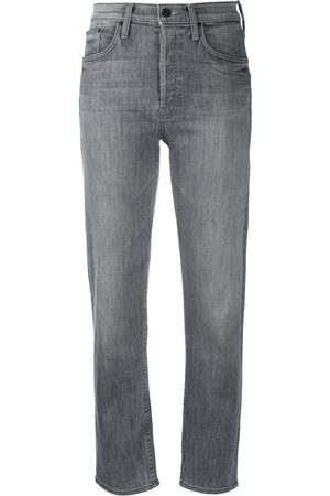 Mother All Nighter high-rise cropped jeans