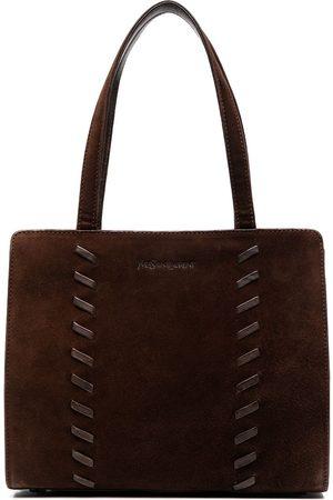 Yves Saint Laurent Whipstitch-detail tote bag