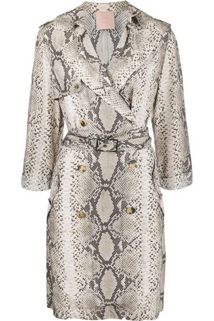 Lanvin Snakeskin print double-breasted trench coat