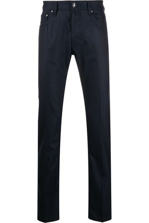 Jacob Cohen Skinny-fit wool-blend trousers