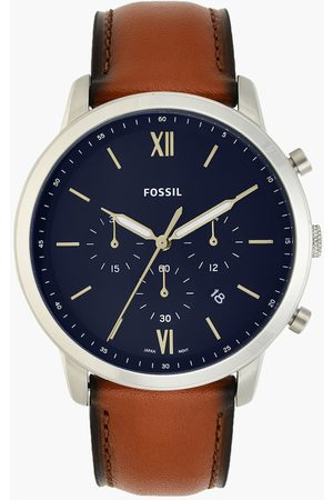 Fossil Men Analog Watch with Leather Strap - FS5453