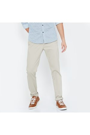 Indian Terrain Textured Slim Fit Casual Trousers