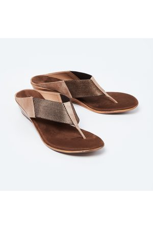 Inc 5 Textured T-strap Wedges