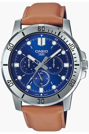 Casio Men Analog Watch with Leather Strap - A1752