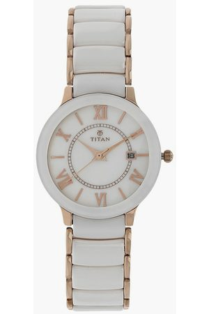 Titan Purple Women Analog Watch with Mother of Pearl Dial - NL95016WD02