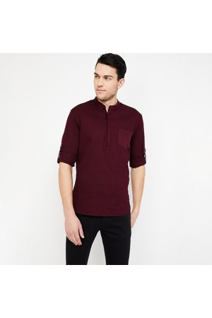 Celio Solid Regular Fit Short Kurta