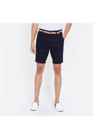 T-BASE Men 3/4s - Men Solid Slim Fit City Shorts