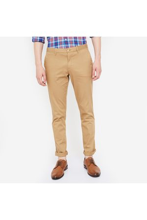 Indian Terrain Solid Flat-Front Slim Fit Chinos