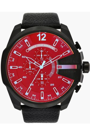 Diesel Men Chronograph Watch with Leather Strap - DZ4323
