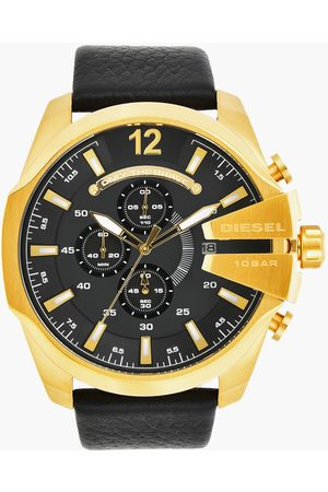 Diesel Men Chronograph Watch with Leather Strap - DZ4344