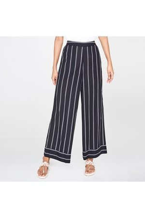 Global Desi Striped Palazzos